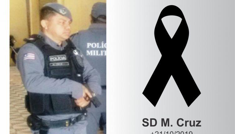 Nota de falecimento pela morte do soldado M. Cruz do 6º BPM