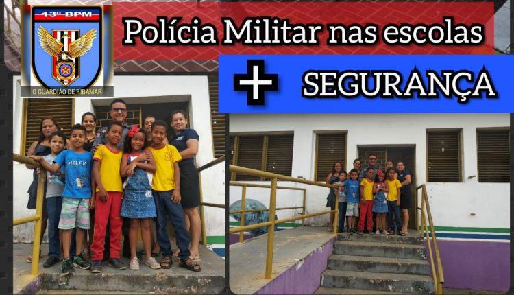 POLÍCIA MILITAR REALIZA VISITA NA UEB PAULO FREIRE EM PAÇO DO LUMIAR