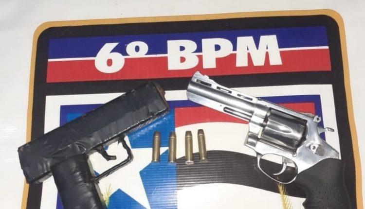 POLÍCIA MILITAR APREENDE 6 ARMAS DE FOGO E PRENDE CRIMINOSOS DURANTE OPERAÇÕES NA CAPITAL