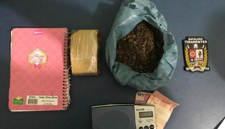 POLÍCIA MILITAR PRENDE SUSPEITO POR TRÁFICO DE DROGAS NO ALTO DO TURU
