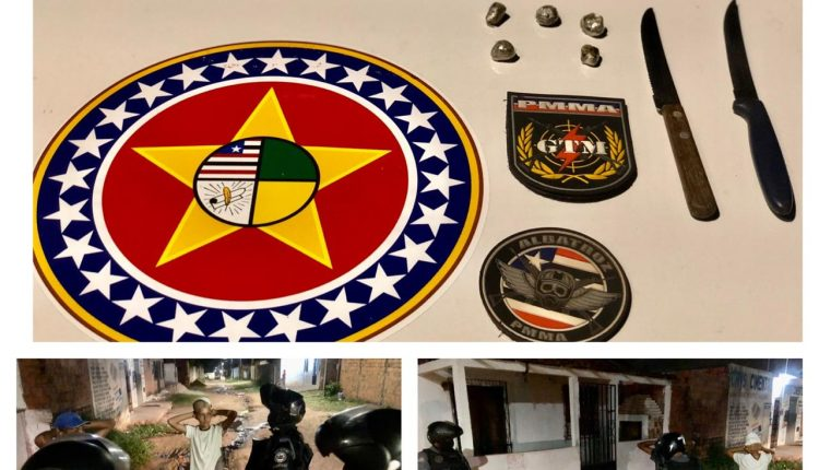 Polícia militar apreende armas brancas e drogas no Parque Jair