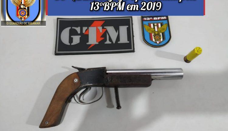 Polícia Militar apreende mais uma arma de fogo em São José de Ribamar