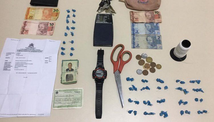 Polícia militar prende suspeitos por tráfico de drogas no bairro Olho D'agua