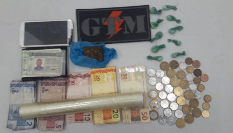 PM prende mais um suspeito de tráfico de drogas na Capital