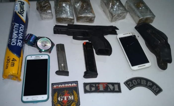 Homem é preso com drogas e arma de fogo no Bairro do Miritiua