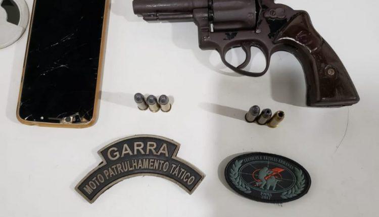 POLÍCIA MILITAR APREENDE ARMA DE FOGO NO BAIRRO MOROPÓIA EM SÃO JOSÉ DE RIBAMAR