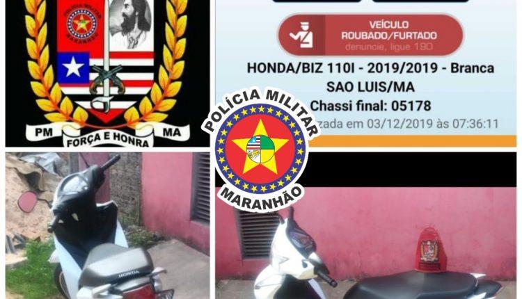 PMMA recupera moto roubada na Vila Palmeira