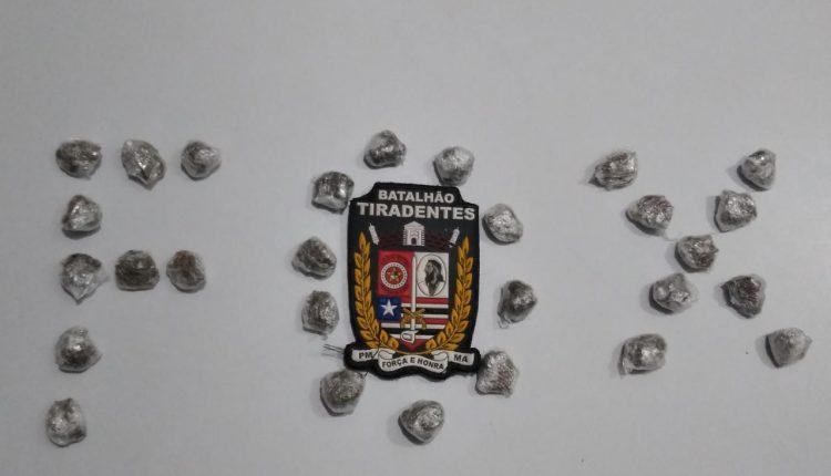 Polícia Militar apreende menor suspeito por tráfico de drogas