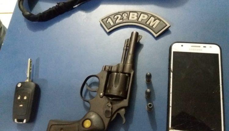 Polícia Militar apreende arma de fogo e carro clonado utilizado em roubo em Campestre do Maranhão