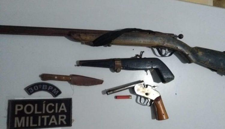PMMA APREENDE ARMAS DE FOGO EM BURITICUPU-MA
