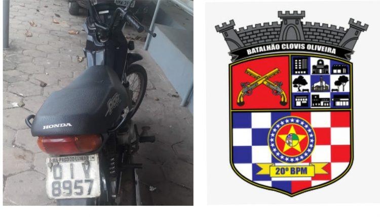 POLICIAIS RECUPERAM MOTO ROUBADA E PRENDEM SUSPEITO NO BAIRRO DA FORQUILHA
