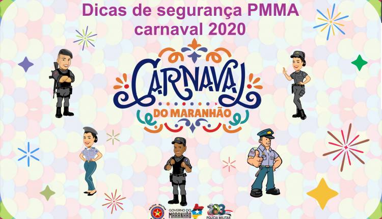 Dicas de segurança PMMA carnaval 2020