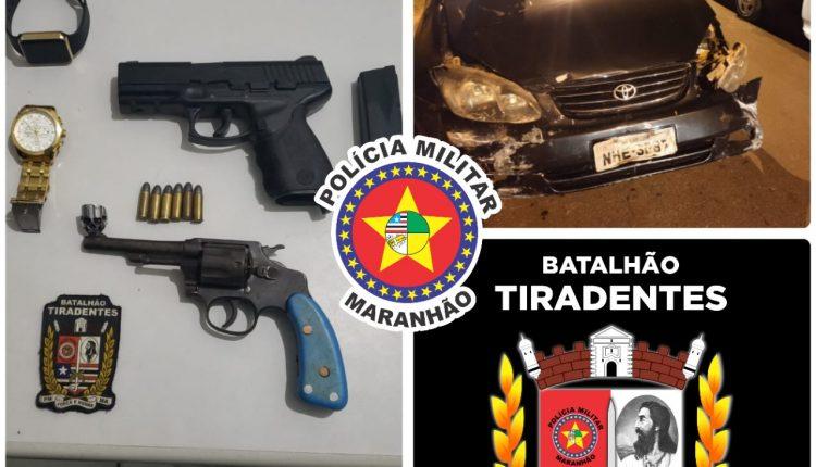 POLICIAIS RECUPERAM VEÍCULO ROUBADO E APREENDEM ARMA DE FOGO EM AÇÃO NESTA SEGUNDA