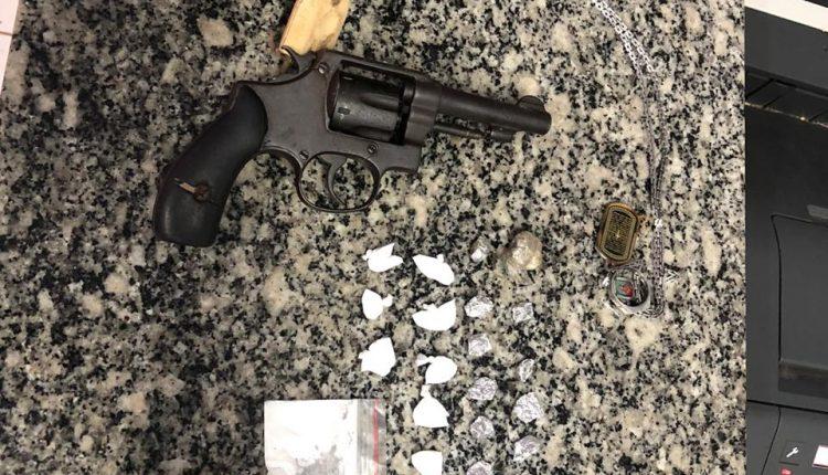 Drogas e arma de fogo são apreendidas no povoado Morros em São Mateus-Ma