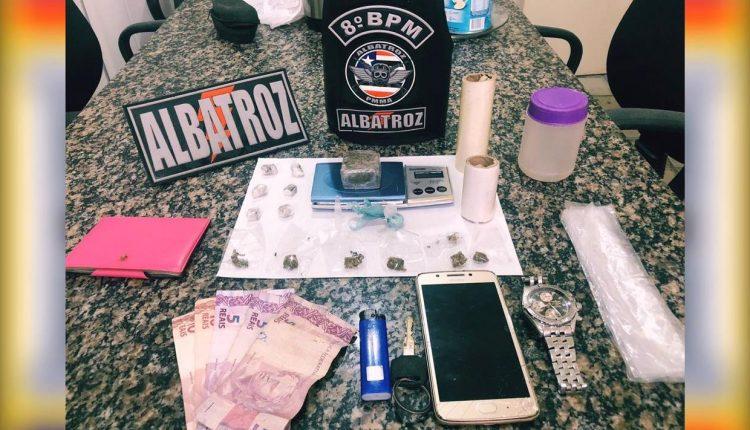 Policia militar prende suspeitos de trafico de drogas no bairro do São Francisco