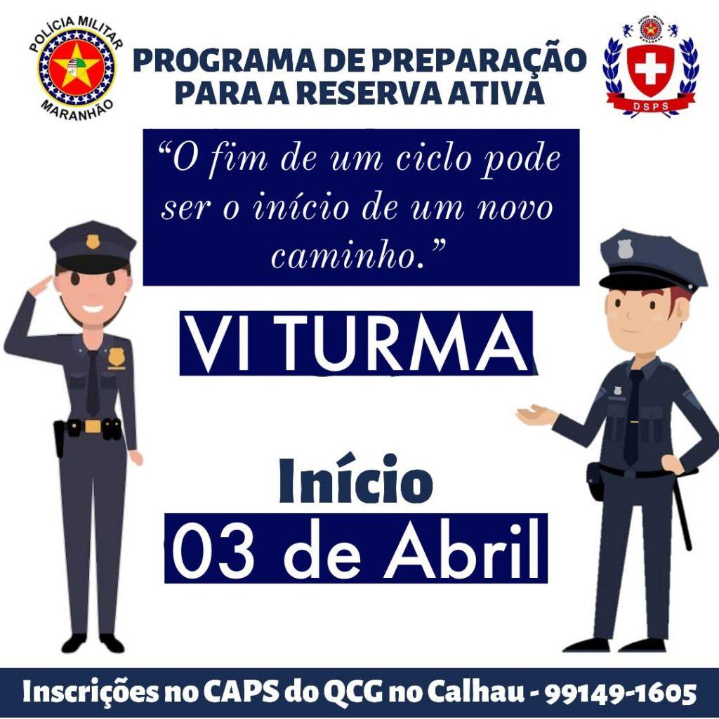 POLÍCIA MILITAR REALIZARÁ PROGRAMA DE PREPARAÇÃO PARA RESERVA ATIVA