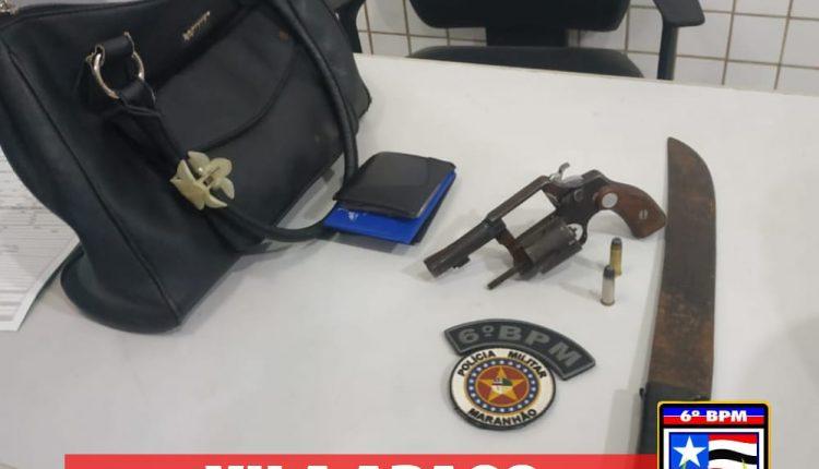 POLICIAIS MILITARES DO 6º BPM APREENDEM ARMAS DE FOGO EM BAIRROS DA CAPITAL
