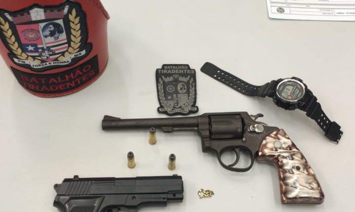 PMMA aprende arma de fogo no bairro Cohama