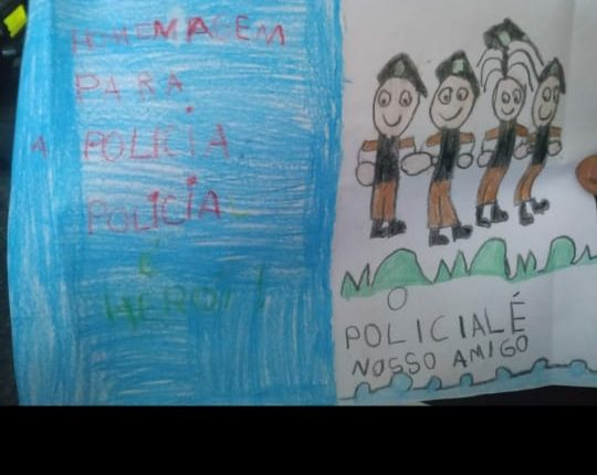 Com cartas e desenhos carinhosos, crianças agradecem trabalho da PM em Zé Doca-MA