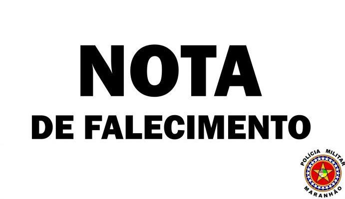 Nota de pesar pelo falecimento do Tenente PM Augusto comandante do Pelotão de Aldeias Altas