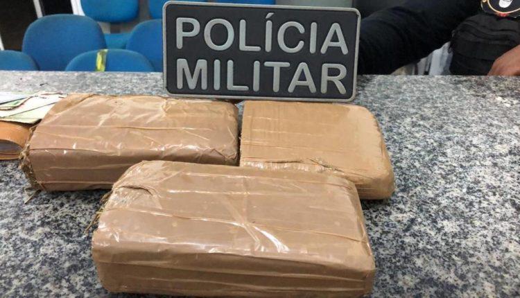 POLÍCIA MILITAR APREENDE GRANDE QUANTIDADE DE DROGAS NA CIDADE DE PIO XII/MA