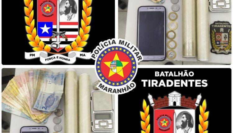 Policiais da Batalhão Tiradentes recuperam veículo e prendem suspeito por tráfico de drogas