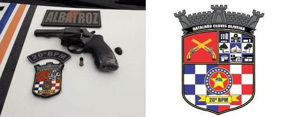 Polícia Militar prende dupla de assaltantes com arma de fogo no Bairro da Cohab