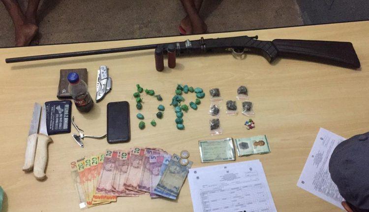 Policiais Militares do destacamento da cidade de Governador Edison Lobão desarticulam ponto de venda de drogas