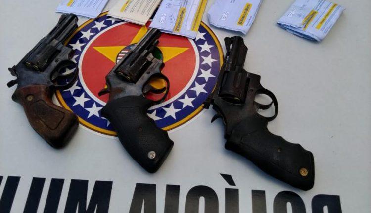 POLÍCIA MILITAR EM VITÓRIA DO MEARIM PRENDE ASSALTANTES DE POSTO DE COMBUSTÍVEL COM TRÊS ARMAS DE FOGO E RECUPERA 9 MIL REAIS