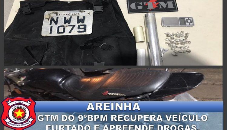 9º BPM apreende drogas e moto no bairro da Areinha
