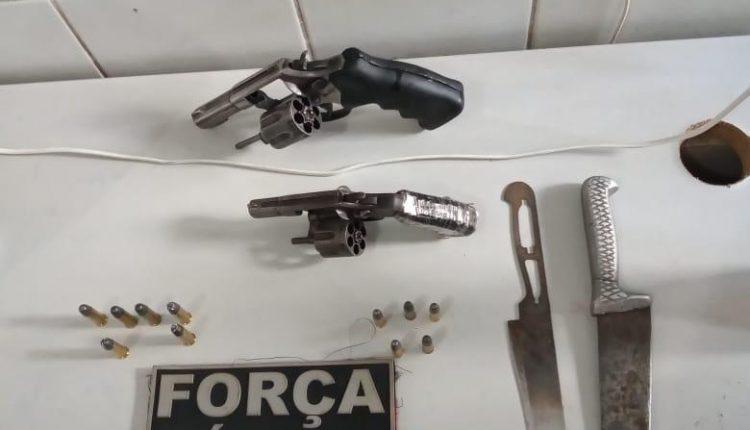Policiais do 17º BPM apreendem armas de fogo em Codó