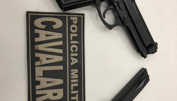 Policiais Militares da cavalaria prendem dupla de assaltantes e apreendem arma de fogo em São Luis