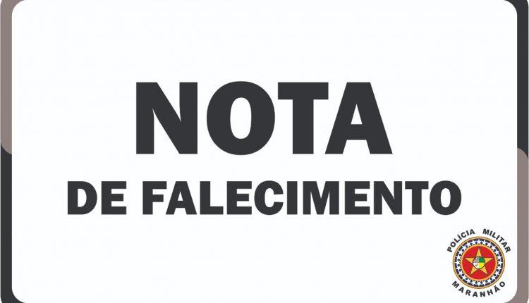 NOTA DE PESAR PELO FALECIMENTO DO SOLDADO PM RAPHAEL SANZIO
