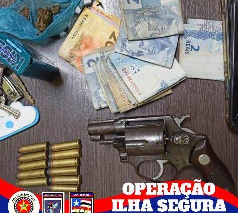 6º BPM APREENDE DUAS ARMAS DE FOGO DURANTE OPERAÇÃO ILHA SEGURA