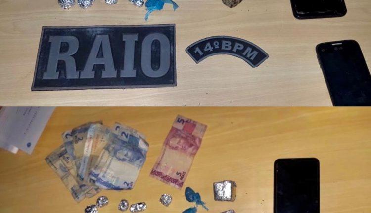 Esquadrão Raio do 14º BPM prende homem por tráfico de drogas
