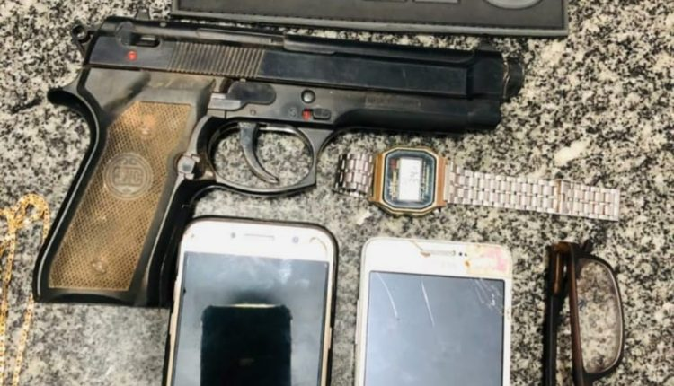PMMA prende suspeitos por tráfico de drogas e apreende simulacro de arma de fogo no João Paulo