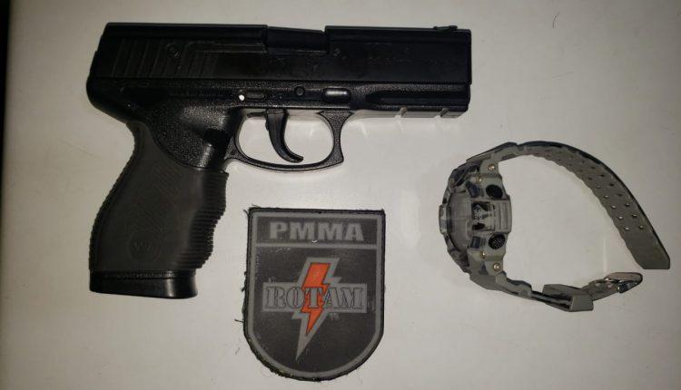 Rotam apreende simulacro de arma de fogo e drogas neste final de semana em São Luís-MA