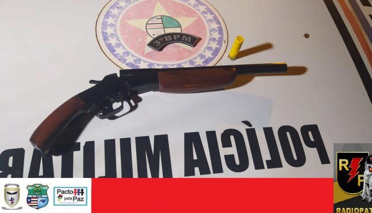 3º BPM apreende arma de fogo em Imperatriz – MA