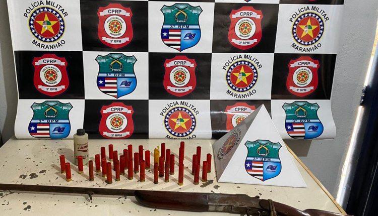 PMMA tira três armas de fogo de circulação em Governador Edson Lobão