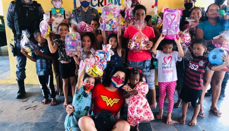 PMMA realiza entrega de brinquedos para crianças em ação social