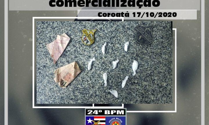 Homem é preso com drogas em Coroatá