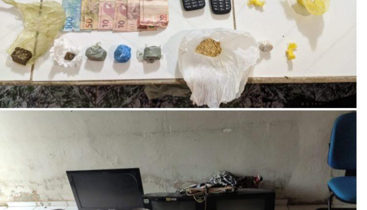 HOMEM É PRESO SUSPEITO DE TRÁFICO DE DROGAS EM PAULINO NEVES-MA